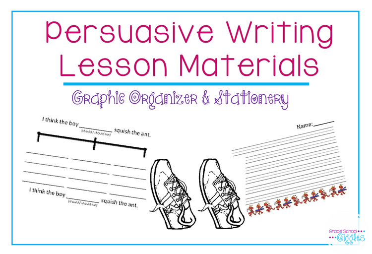 "Persuasive writing is one of my favorite units to teach. Between introducing it with Oreos and getting to an awesome mentor text, ""Hey, Little Ant"" it is engaging and a lot of fun. If you're an elementary school teacher, especially a first or 2nd grade teacher, you will want to check out these ideas before planning your lesson on persuasive writing. You'll find ideas for books to read, a writing prompt, and activities you can use."