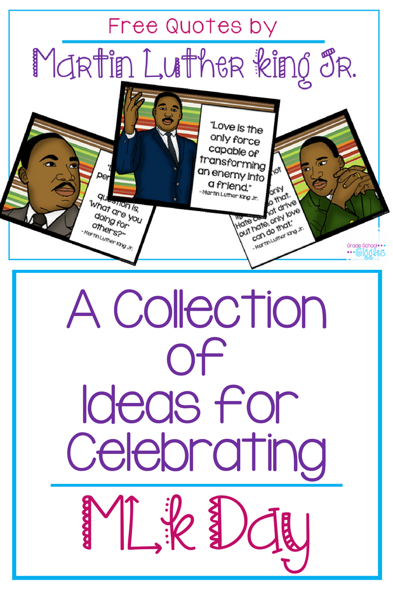 An Organized Collection of Teaching Activities for MLK Day