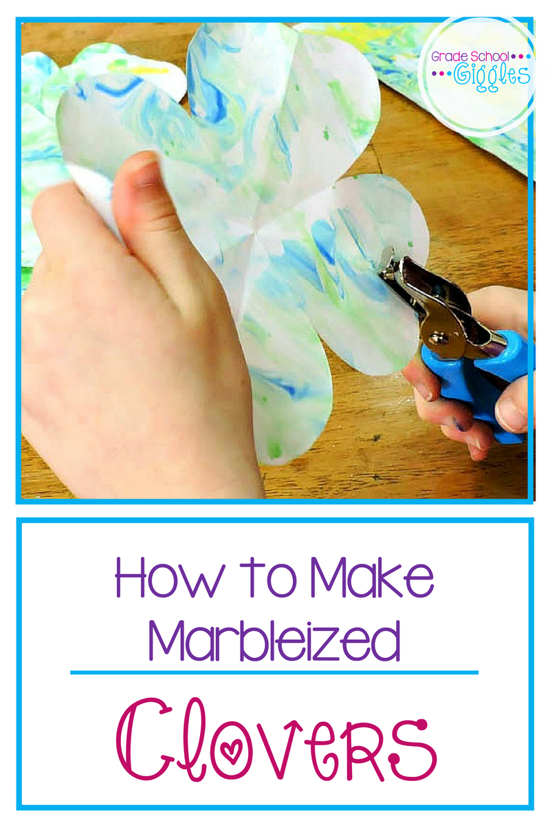 St. Patrick's Day Shamrocks: A Tutorial for Making Marbleized Clovers