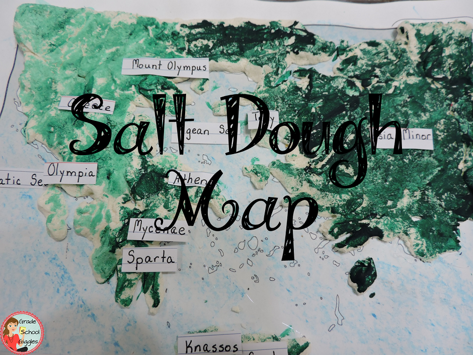 Salt Dough Map