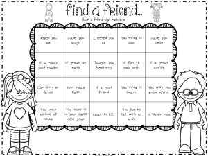 End of Year Find a Friend Activity