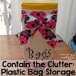 Contain the Clutter: Storing Plastic Bags