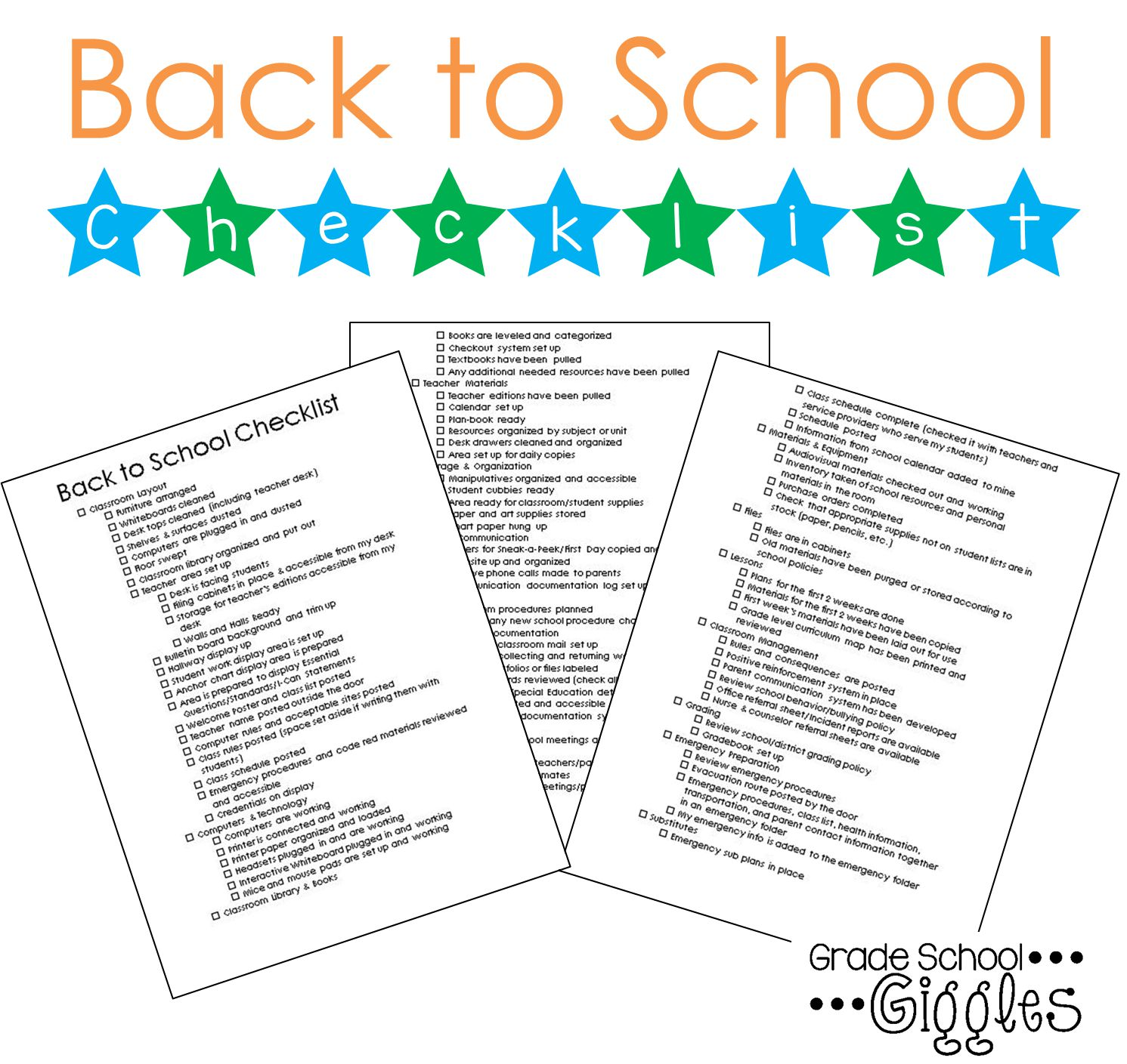 This editable back to school checklist will make it easy to stay organized in pre-planning.