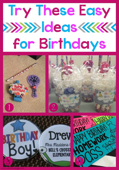 Easy Ideas for Celebrating Birthdays in the Classroom