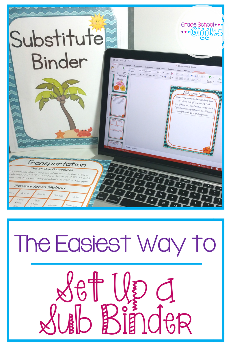 No one wants to be writing lesson plans when they're sick. Setting up an awesome sub binder means you don't have to. This free editable sub binder includes everything you will need to get yours set up from the printables like a cover, welcome letter, and template pages to tips on how to set it up. Being prepared for an emergency is simple with this freebie.