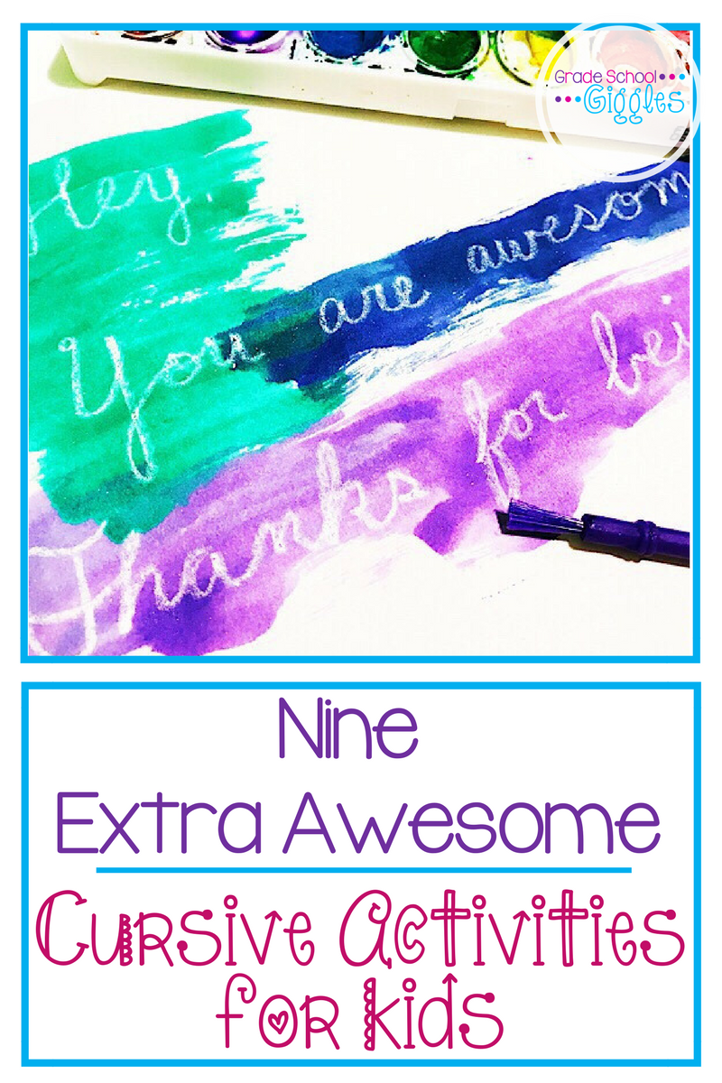 9  Extra Awesome Cursive Activities Every Kid Will Love
