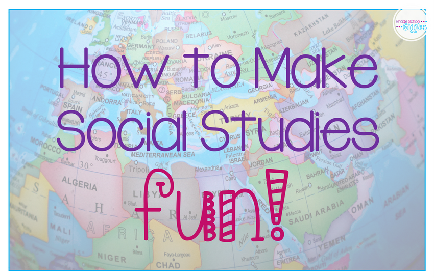 Sometimes it's hard to figure out how to make elementary social studies lessons interesting, fun, and hand-on. It doesn't have to be. There are actually tons of ways you can incorporate exciting projects, activities, games, and centers to make it engaging. Check out these ideas before doing your lesson plans for your next geography or history unit.