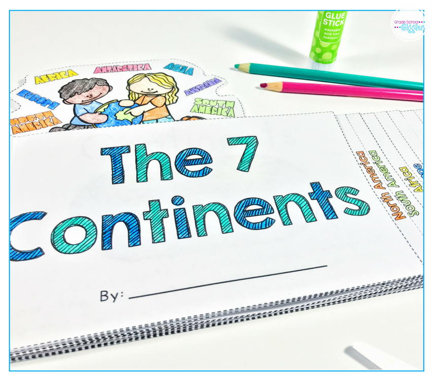 This seven continents necklace is an easy and fun art activity to do with your kids. The free printable template makes it a simple craft to make. It's a perfect project for your lesson with preschool, kindergarten, or school aged children.