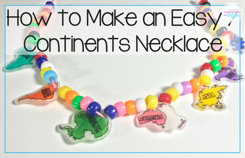 This Seven Continents Necklace Is An Easy And Fun Art Activity To Do With  Your Kids