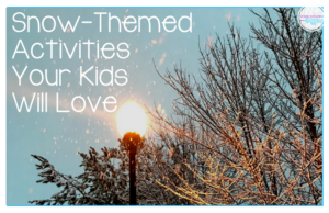 Your kids will love these fantastic snow themed activities for kids. They are perfect for some wintertime fun even if  you don't have any real snow. There are ideas for art projects, playtime, and learning activities too.