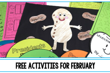 Do you teach kindergarten through third grade? Do you need some fun activities for popular February topics like Groundhog Day, Valentine's Day, kindness, dental health, or Black History Month? This post shares classroom freebies for kids in kindergarten, first, second, and third grade including worksheets, free printables, and projects like a George Washington Carver craftivity or a tooth shape book. Plus, you'll find reading recommendations for stories related to February social studies topics.