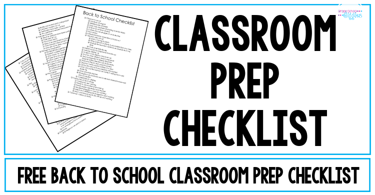 Setting Up Your Classroom: A Checklist for Classroom Prep