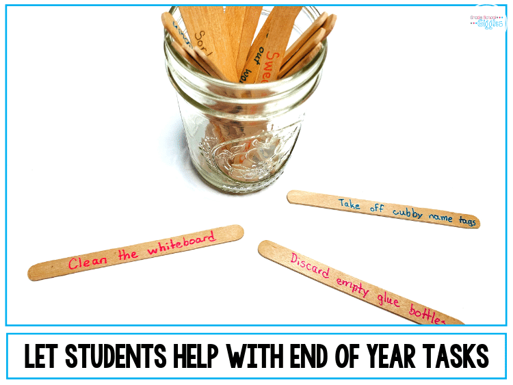 If you're a teacher, you know that the end of the year is often chaotic. This blog post is all about tips for making it your best end of year season yet. The post shares ideas for keeping your class busy and engaged. You'll also find classroom printables like a memory book, editable awards, and free worksheets. Plus, there are tips for getting your students involved in the classroom organization and cleaning tasks that need to be done before the year's done. #EndOfYear #TeacherTips #Teaching