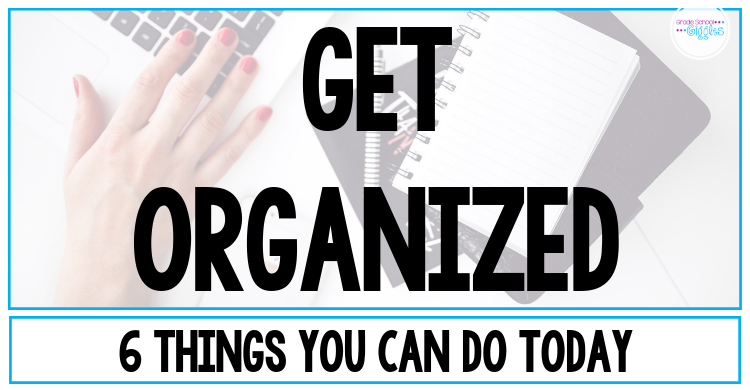 If you want to be an organized teacher, this blog post is a must-read. Learn 6 tips and tricks about how to be an organized teacher. Grab some awesome free printables to help you organize your classroom, including copy notes, substitute binders, and a back to school classroom prep checklist. Get good ideas for organizing important spaces in your classroom like your desk, files, and the different learning areas for your kids. #BacktoSchool #TeacherOrganization #OrganizedTeacher
